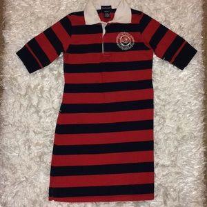RALPH LAUREN Red/Navy Classic Shirt Dress